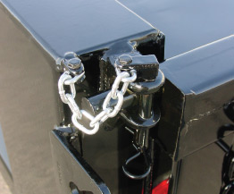 Drop pin upper hardware for double acting tailgate